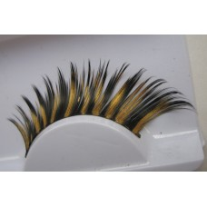 Fake Eyelashes - Gold and Black Zebra