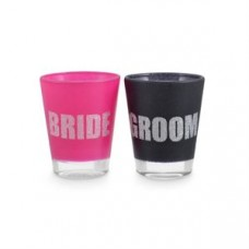 Shot Glass - Bride and Groom Glitter Shots