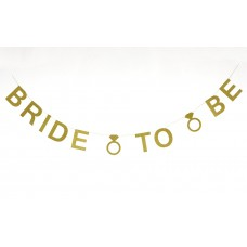 Banner - Bride to Be Glitter Gold