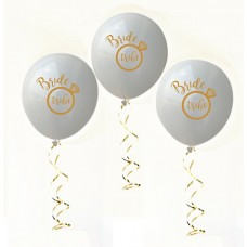 Hens Night Balloons -Bride Tribe White