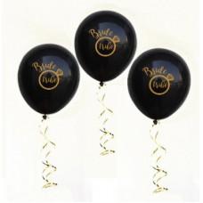 Hens Night Balloons -Bride Tribe Black