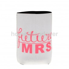Can Cooler - Future Mrs White with Pink Writing