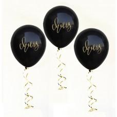 Hens Night Balloons - Cheers Black