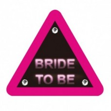 Bride to Be Triangle Warning Badge