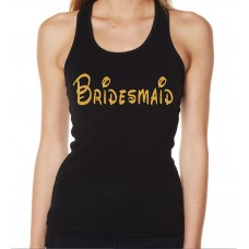 Iron On Transfer Glitter Gold - DISNEY INSPIRED BRIDESMAID