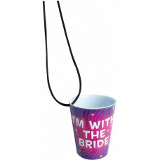 Bachelorette Outta Control Shot Glass Necklace Single - I'm with the Bride