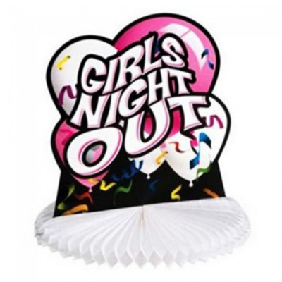 Girls Night Out Honeycomb Table Centrepiece