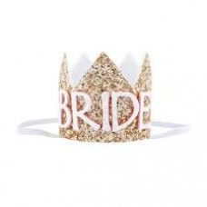 Mini Glitter Crown Bride  - Glitter Gold
