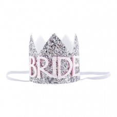 Mini Glitter Crown Bride  - Glitter Silver
