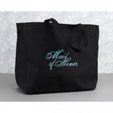 Tote Bag Black and Aqua - Maid of Honor
