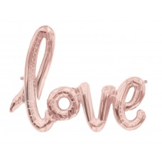 Foil Balloon Love - Rose Gold
