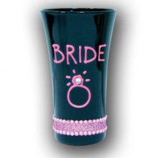 Shot Glass - Bride Black