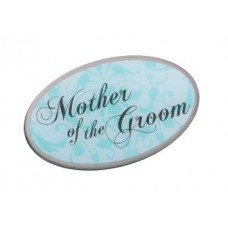 Aqua Pin Badge - Mother of the Groom