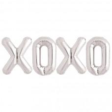 Foil Balloon Silver - XOXO