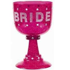 Pimp Glass Goblet - Bride Hot Pink (Plastic)