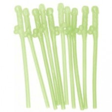Pecker Straws 10Pack - Glow in the Dark
