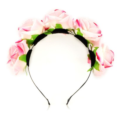 Flower Crown Headband - Pink