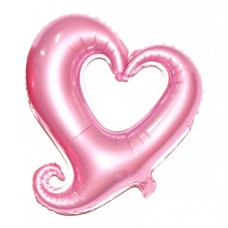 Foil Balloon - Hook Heart LIGHT PINK