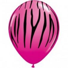 Hens Night Balloons - Zebra Print Pink