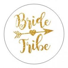 Round sticker - Bride Tribe Gold