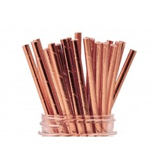 Paper Straws 10Pack - Rose Gold