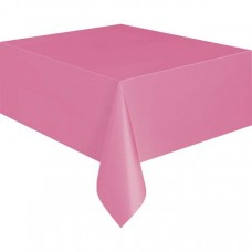 Plastic Table Cover Rectangle - Hot Pink