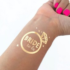 Temporary Tattoo Gold - Bride in a Ring