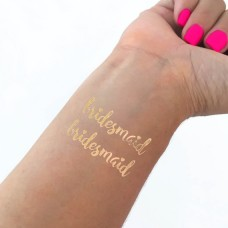 Temporary Tattoo Gold - Bridesmaid