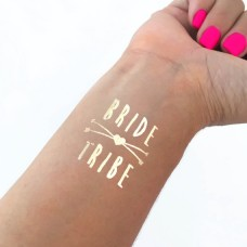 Temporary Tattoo Gold - Bride Tribe with Two Arrows