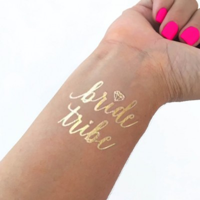Temporary Tattoo Gold - Bride Tribe with Diamond