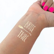 Temporary Tattoo Gold - Bride Tribe with Arrow