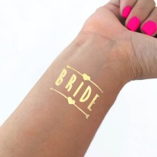 Temporary Tattoo Gold - Bride with Two Arrows