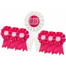 Award Ribbon Rosette Badge Set - Team Bride and Bride