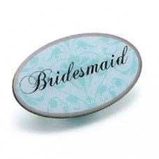 Aqua Pin Badge - Bridesmaid