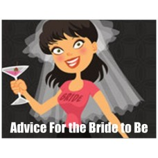 Advice cards for the bride to be - Hen with veil