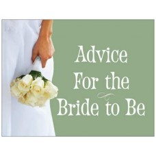Advice Cards for the Bride to Be - Green Bouquet