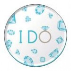 Round sticker - I DO Teal