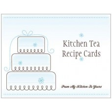 Kitchen Tea Recipe Cards - Blue Cake