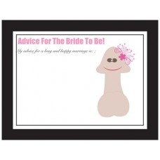 Advice Cards for the Bride to Be - Pecker