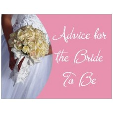 Advice Cards for the Bride to Be - Pink Bouquet