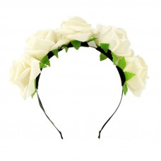 Flower Crown Headband -  White