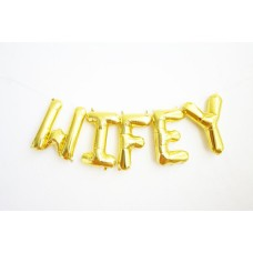 Foil Balloon Gold - WIFEY