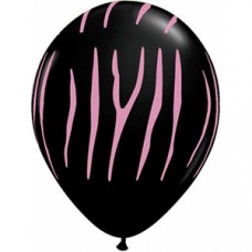 Hens Night Balloons - Zebra Print Black
